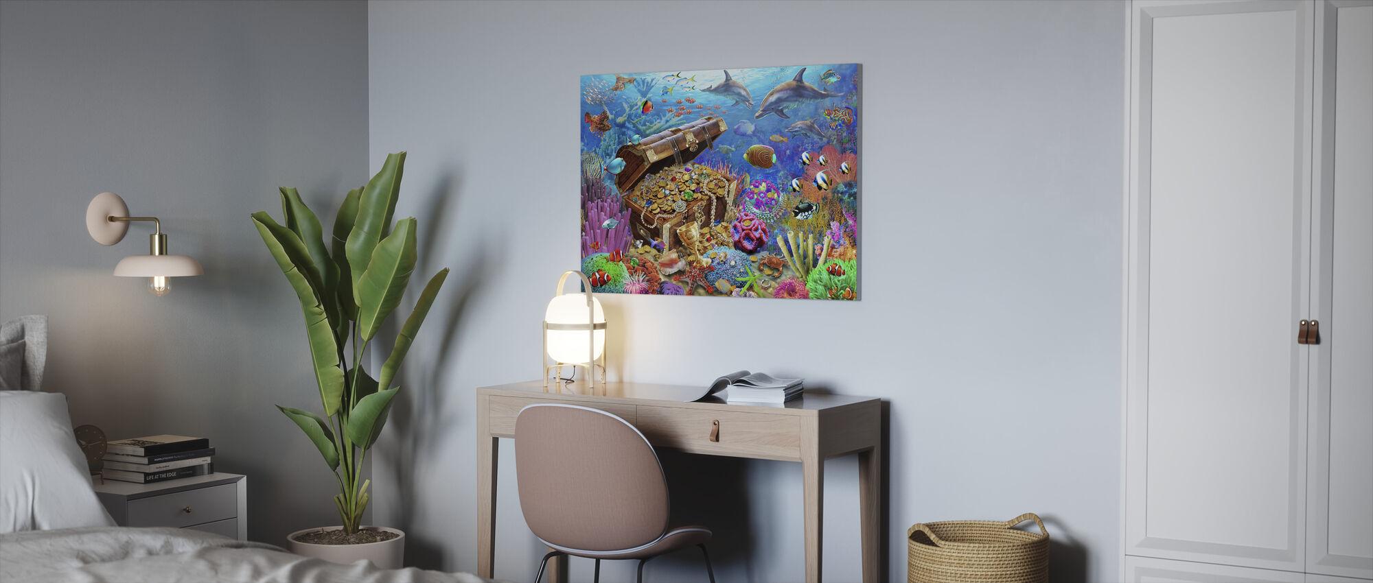 Undersjøiske skatten - Lerretsbilde - Kontor