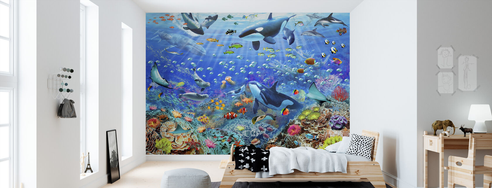 Underwater Scene - Wallpaper - Kids Room