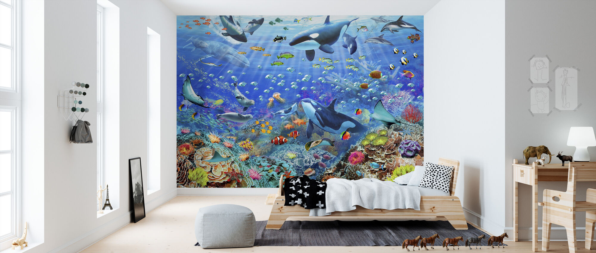 Underwater Scene - Wallpaper - Kids Room