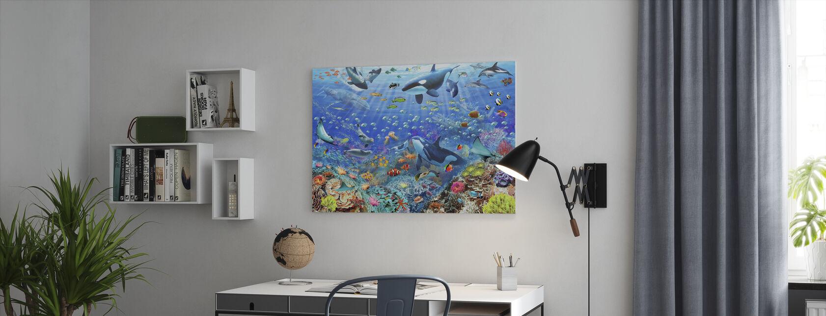 Unterwasser-Szene - Leinwandbild - Büro