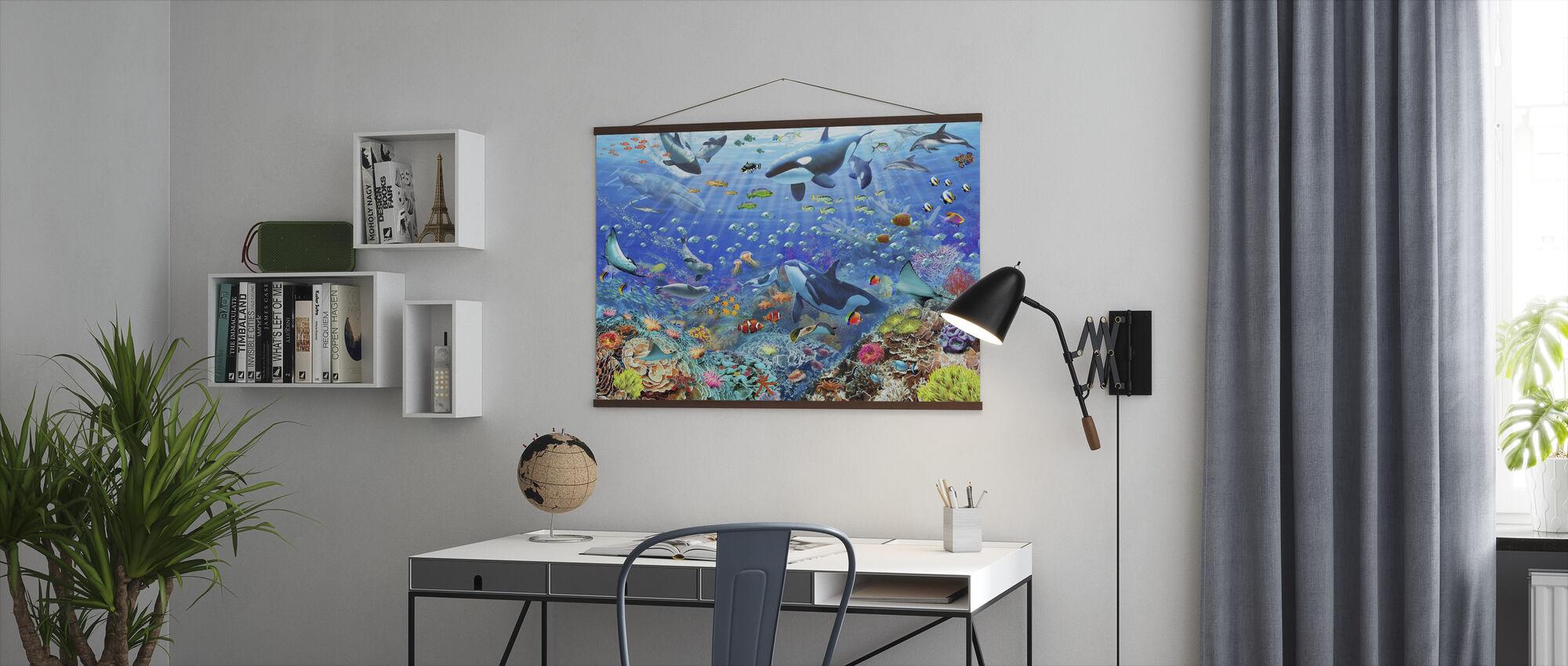 Underwater Scene - Poster - Office