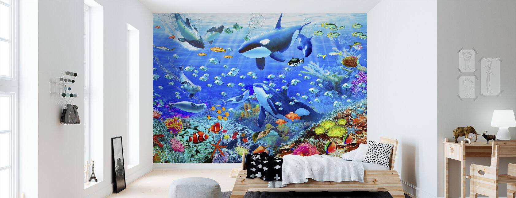 Onderwater Panorama - Behang - Kinderkamer