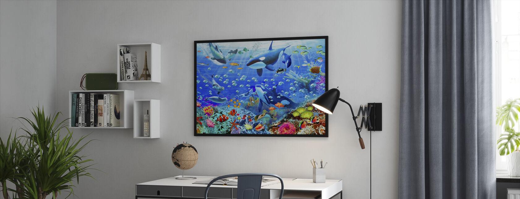 Underwater Panorama - Framed print - Office