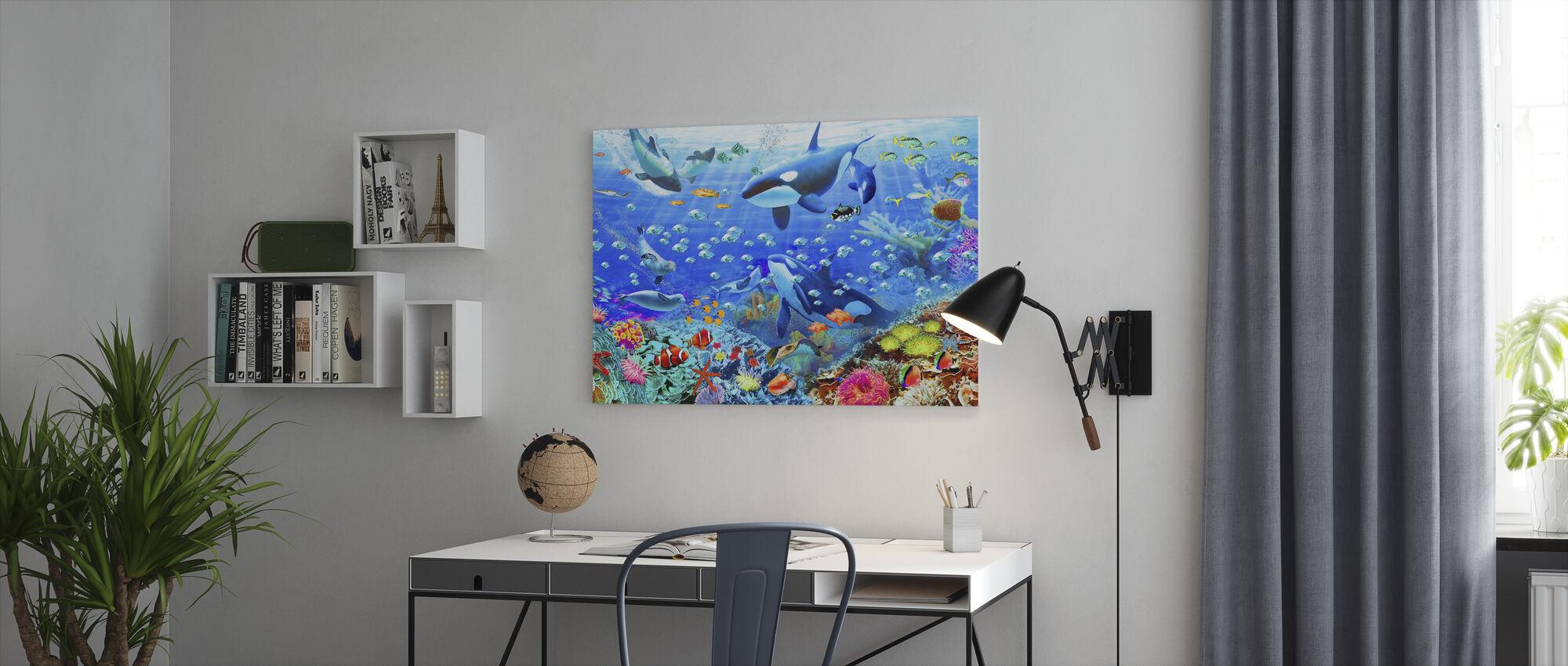Onderwater Panorama - Canvas print - Kantoor