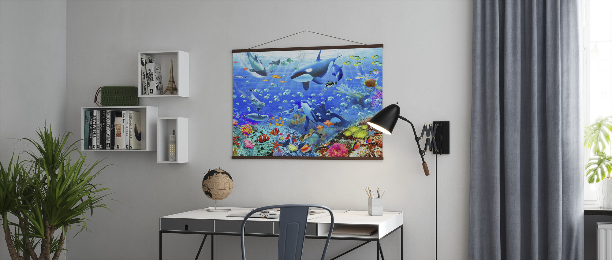 Onderwater Panorama - Poster - Kantoor