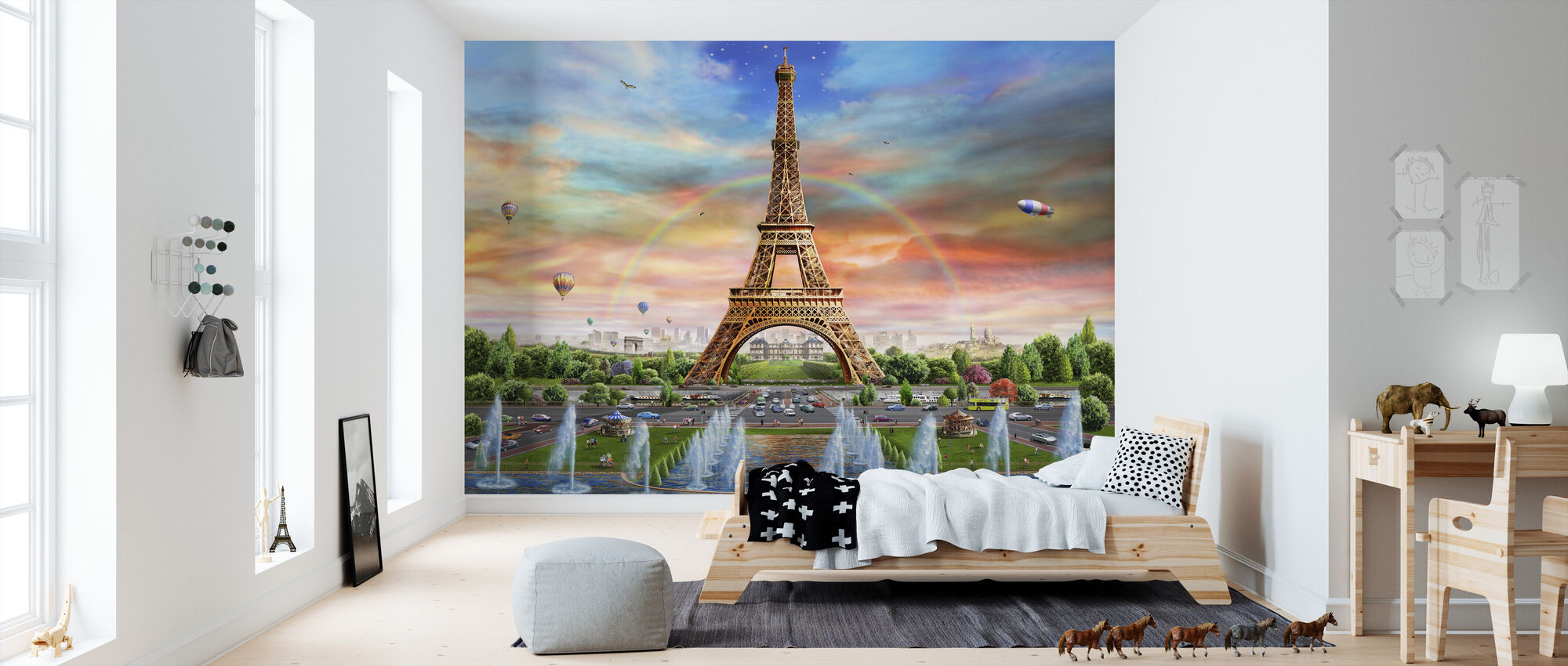 Eiffel Tower - Wallpaper - Kids Room