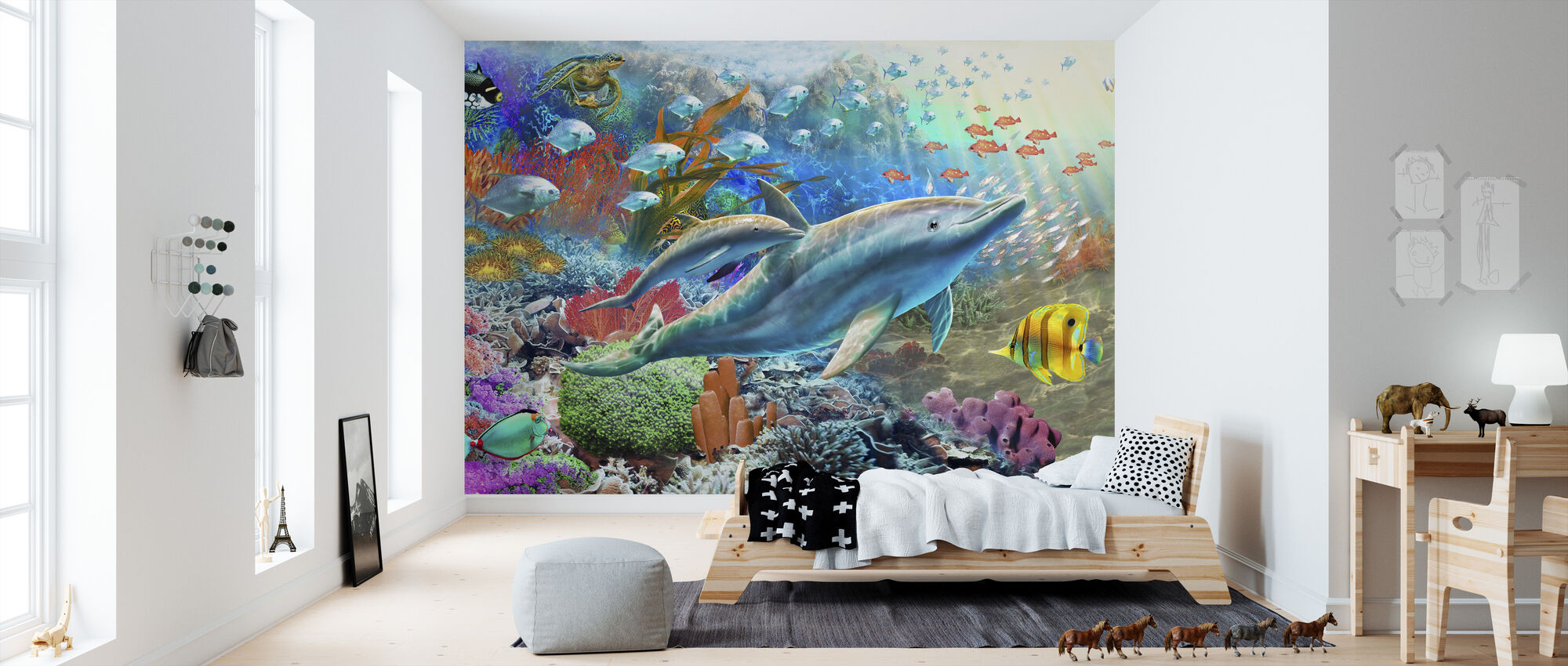 Land and Water Utopia I - Wallpaper - Kids Room