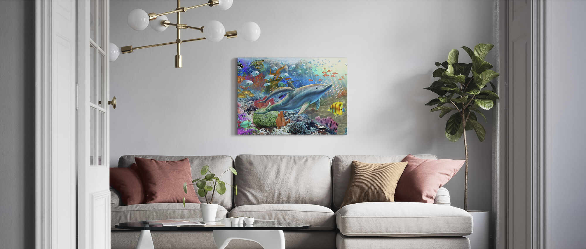 Land and Water Utopia I - Canvas print - Living Room