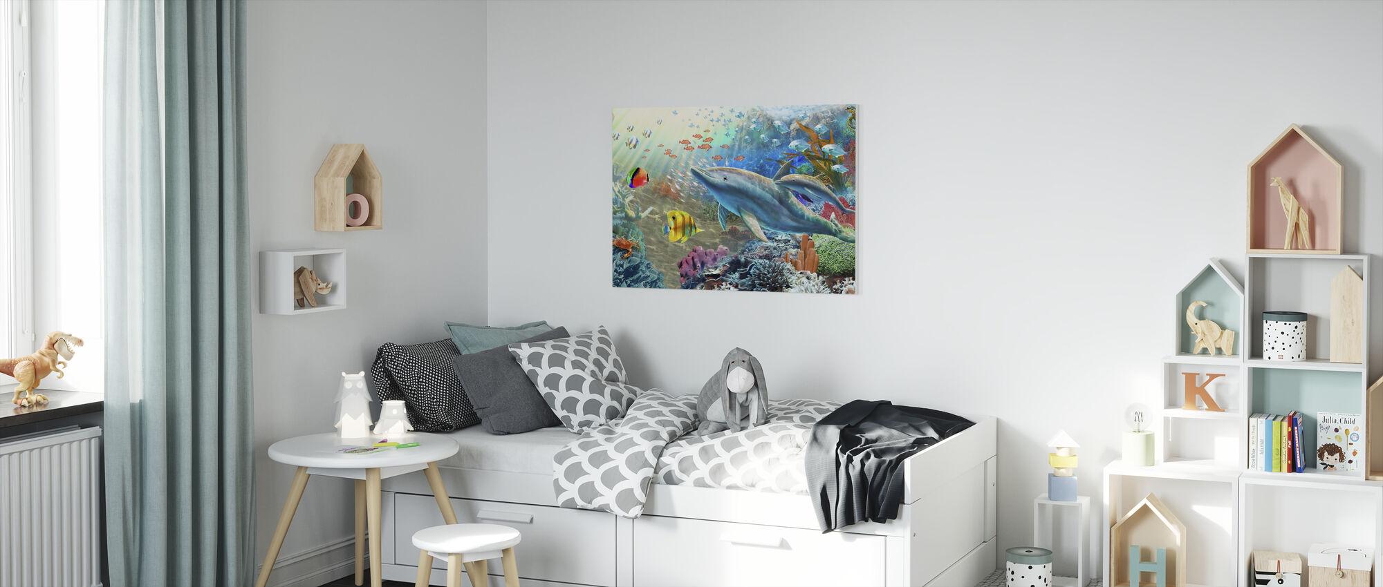 Mark och vatten Utopia II - Canvastavla - Barnrum