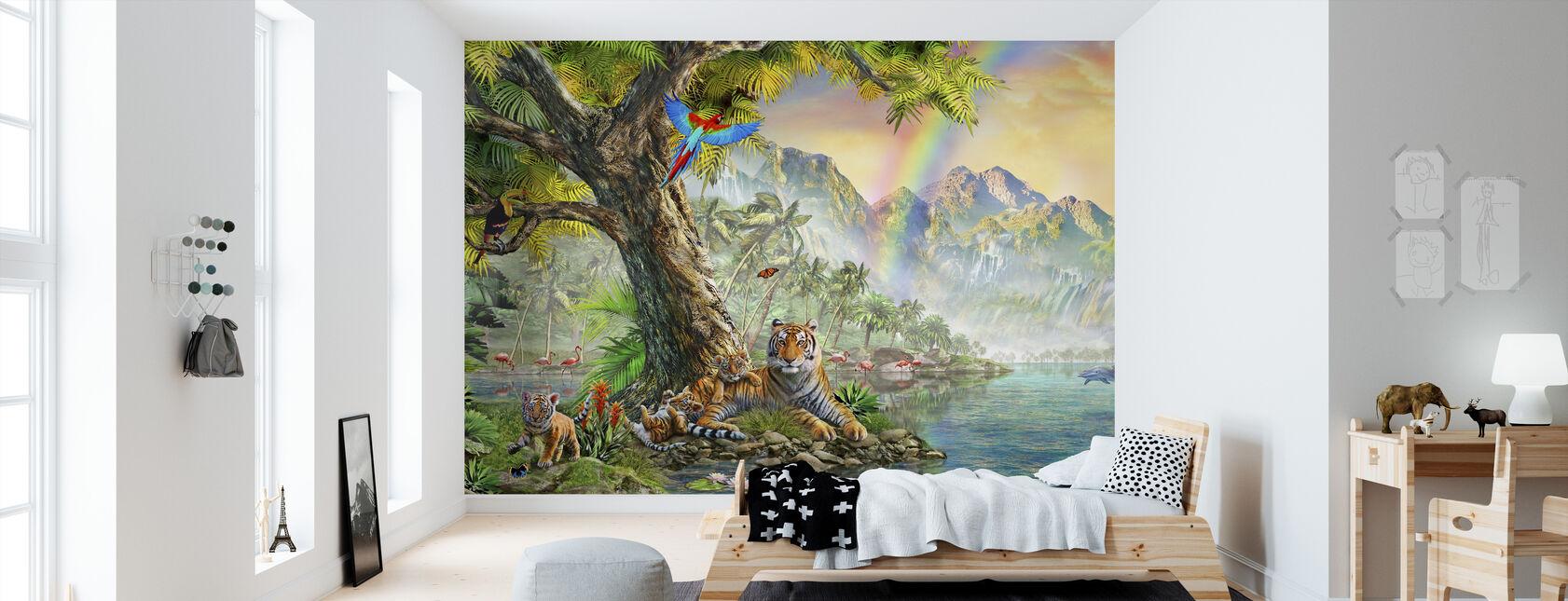 Land und Wasser Utopie III. - Tapete - Kinderzimmer