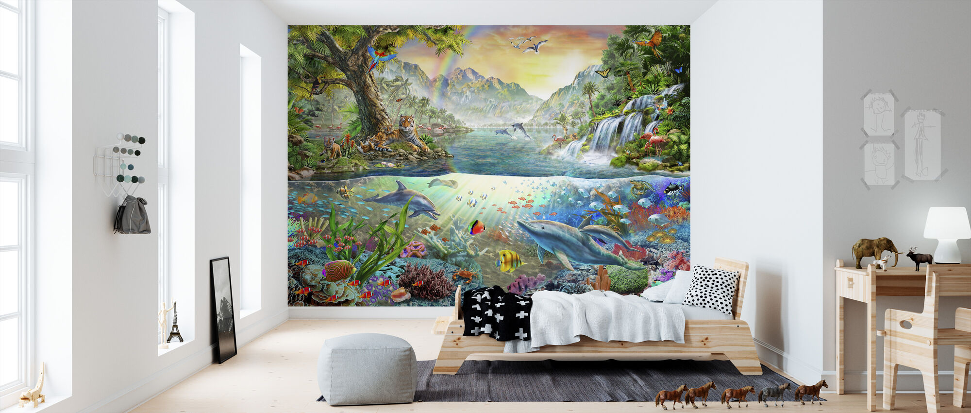 Land and Water Utopia - Wallpaper - Kids Room