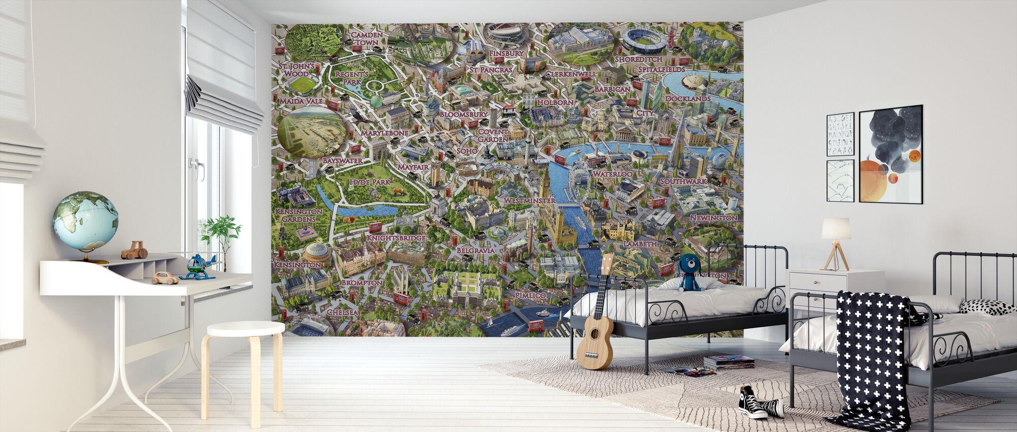 London Landmarks - Wallpaper - Kids Room