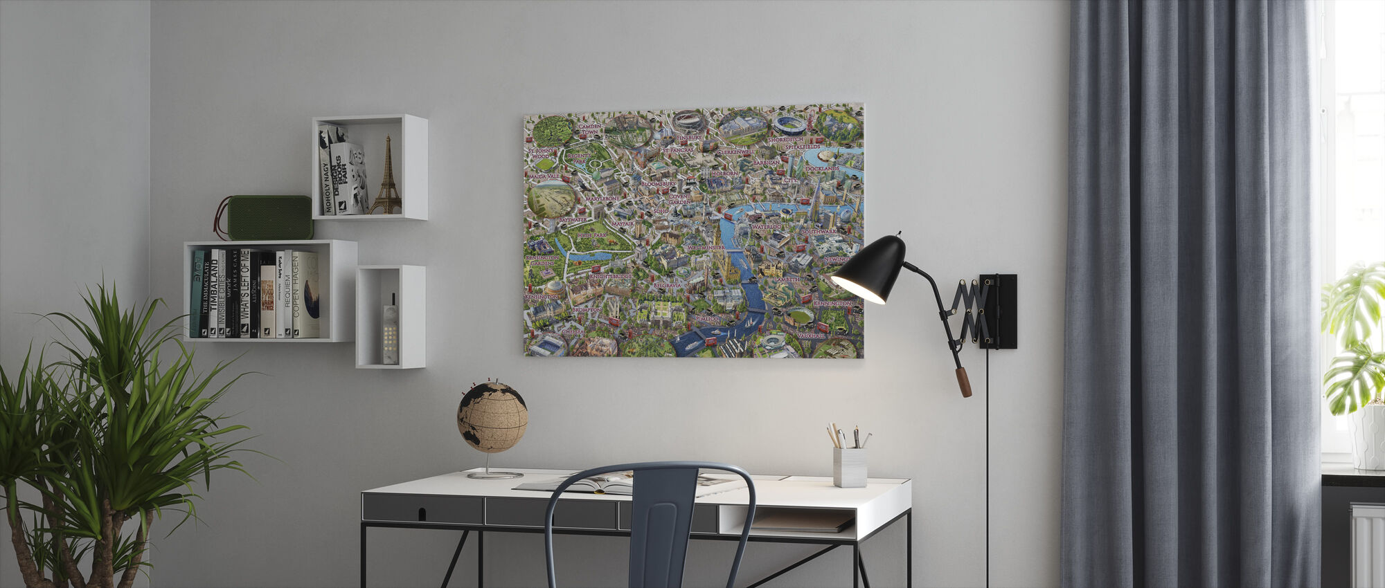 London Landmarks - Canvas print - Office