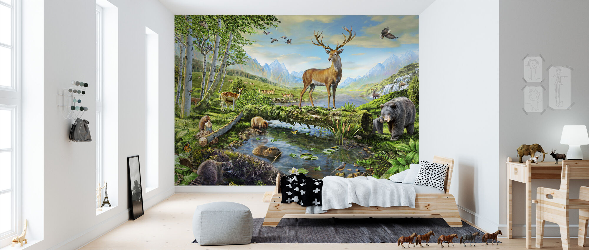 Wildlife Pracht US - Behang - Kinderkamer