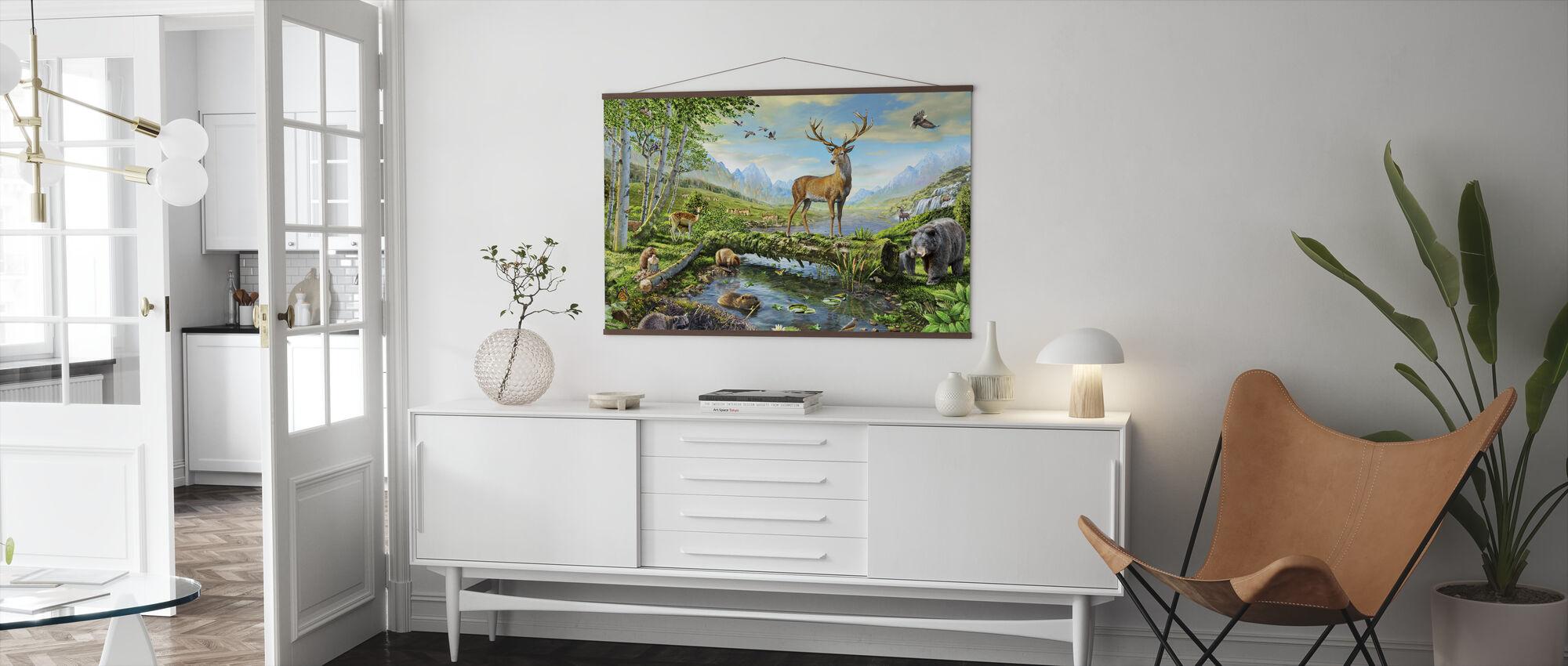Djurliv prakt US - Poster - Vardagsrum