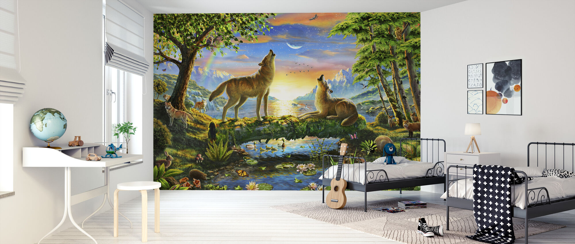 Wolf Harmony - Wallpaper - Kids Room