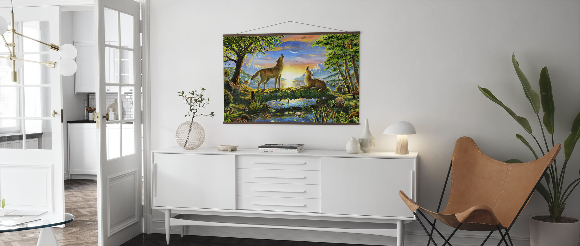 Wolf Harmony - Poster - Living Room