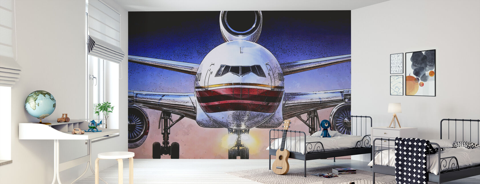 Airbus poster - Wallpaper - Kids Room