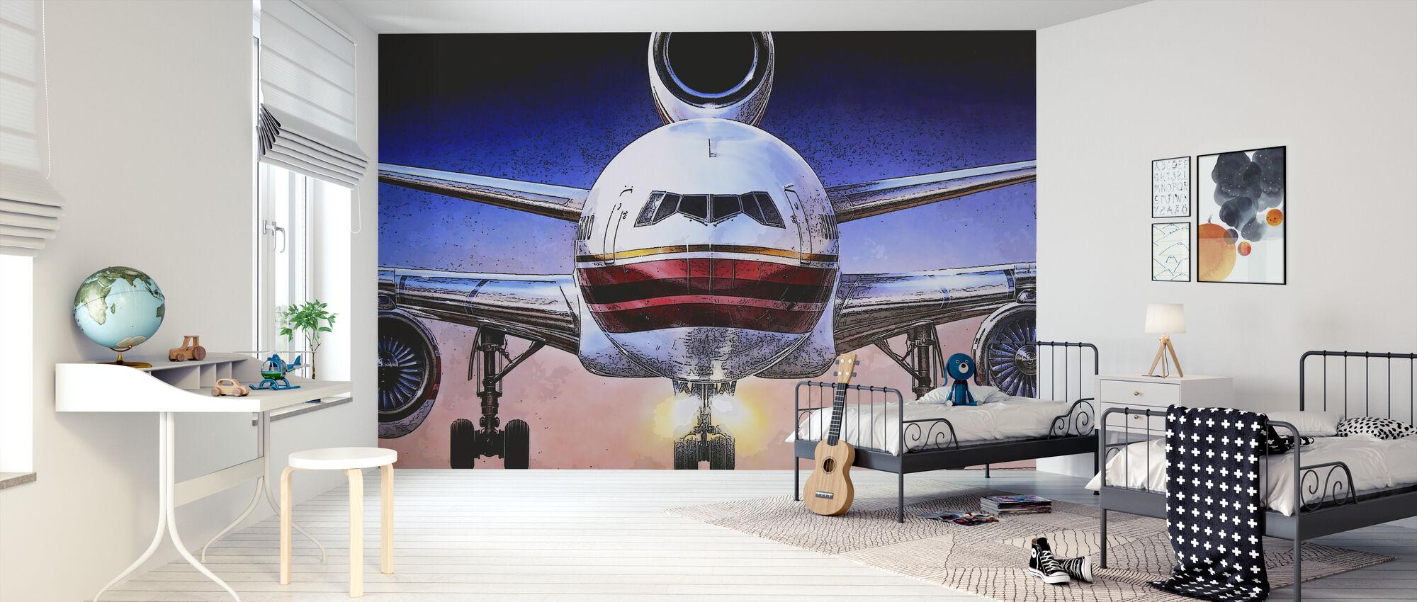 Airbus-juliste - Tapetti - Lastenhuone