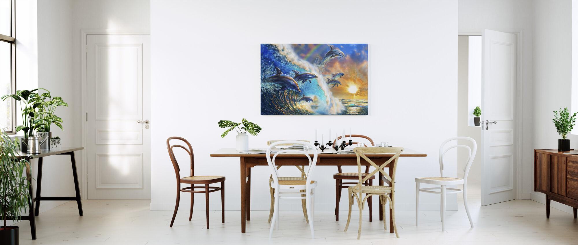 Dolphin Wave - Canvas print - Kitchen