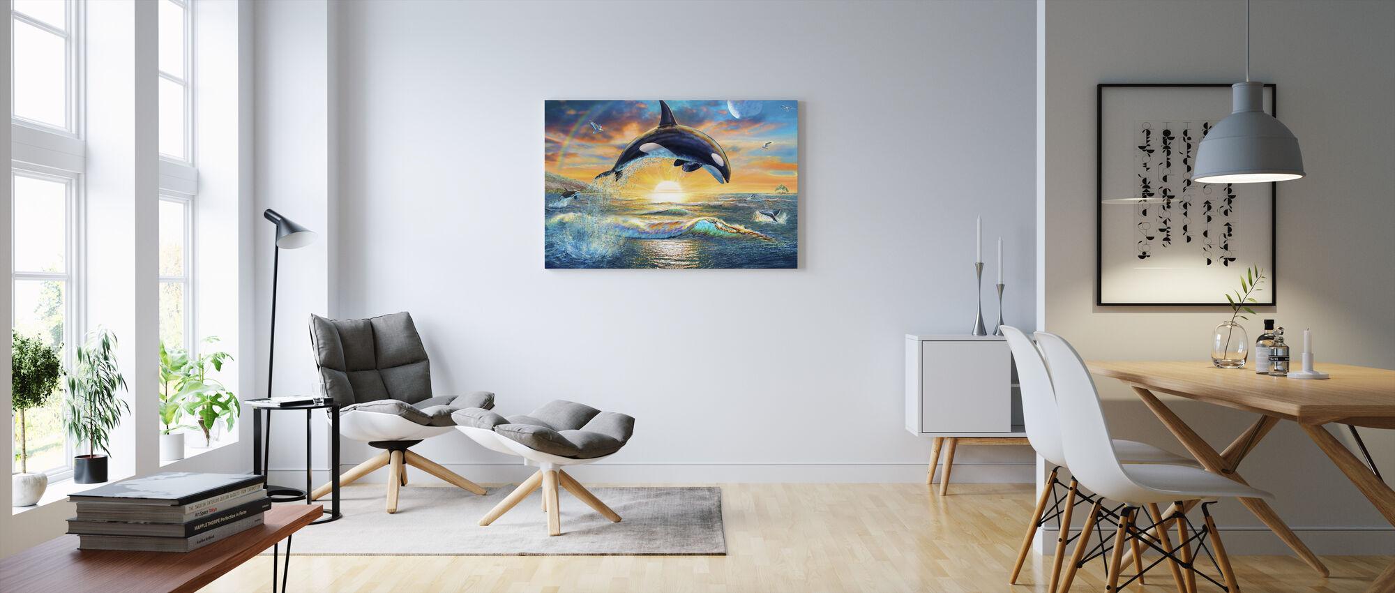 Orca Dawn - Canvas print - Living Room