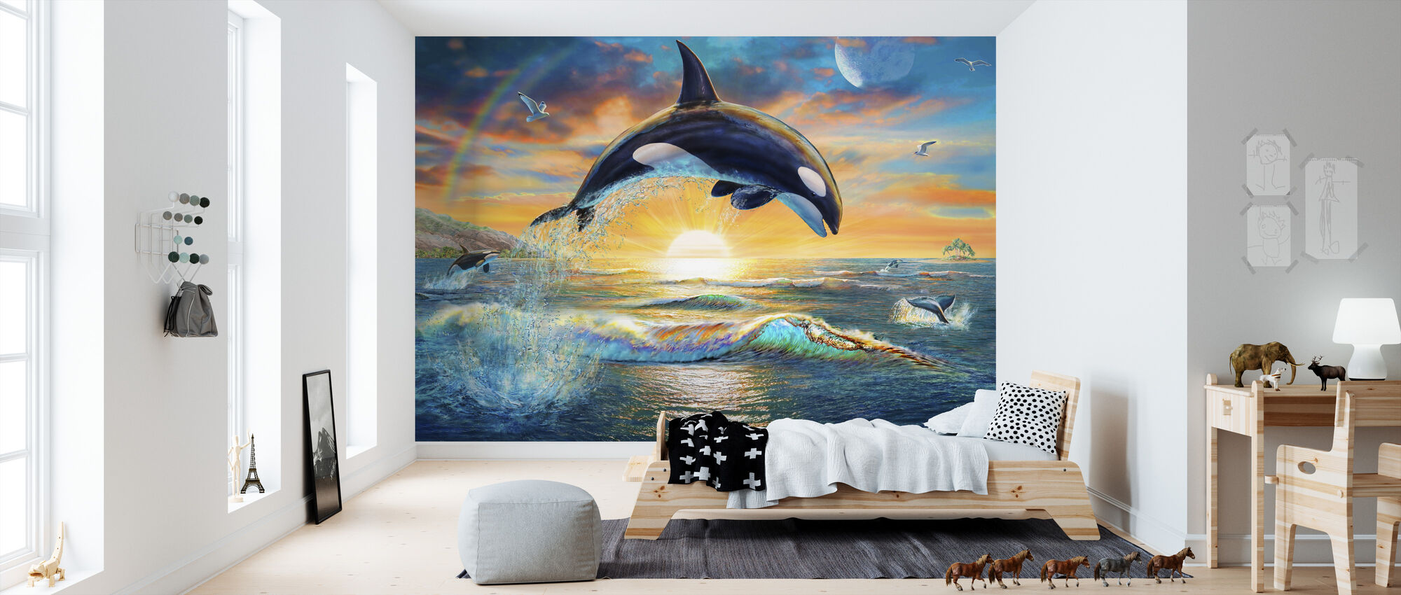 Orca Dawn - Wallpaper - Kids Room