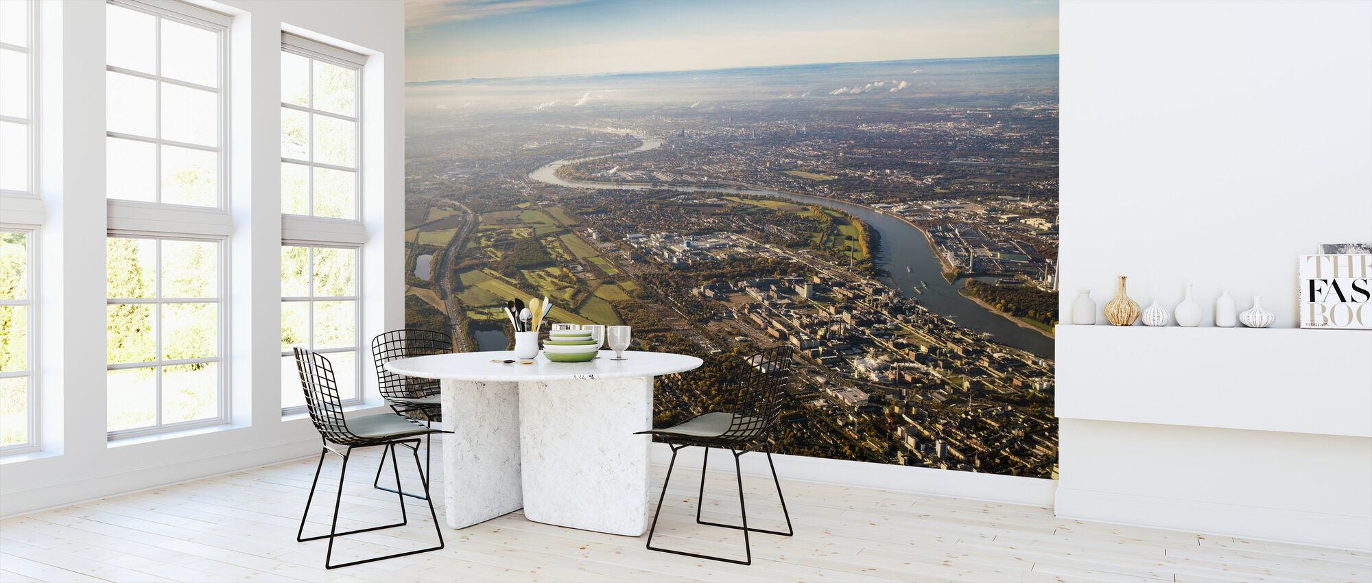 City Aerial View - Wallpaper - Kitchen
