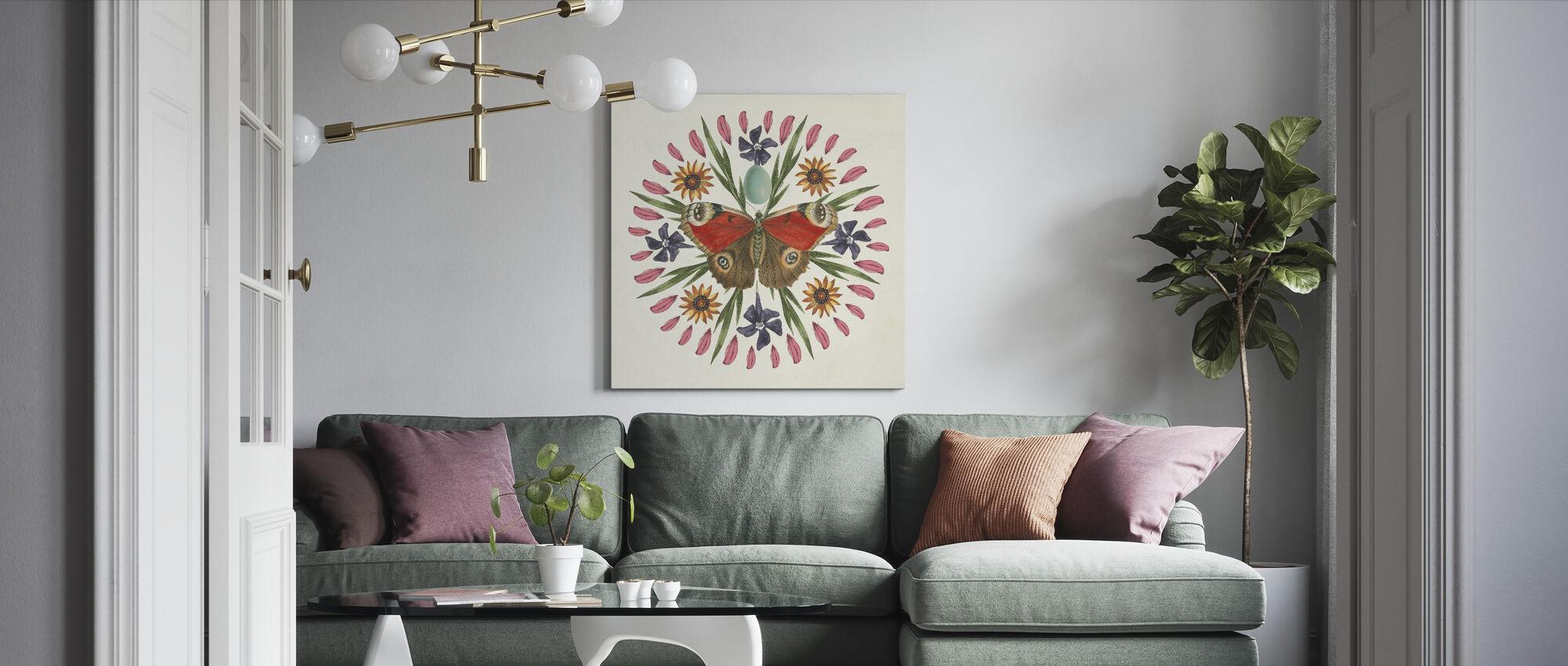 Fjäril Mandala - Canvastavla - Vardagsrum