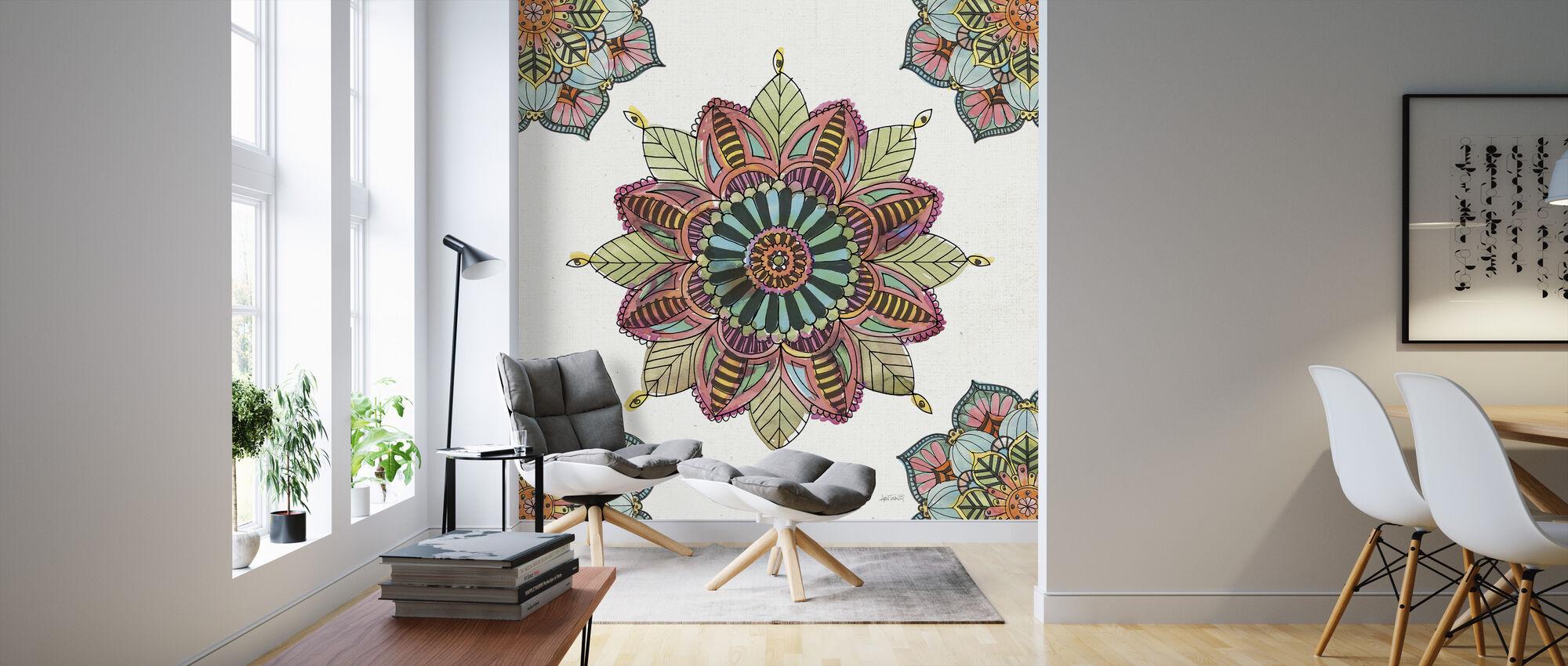Mandala Morning II - Wallpaper - Living Room