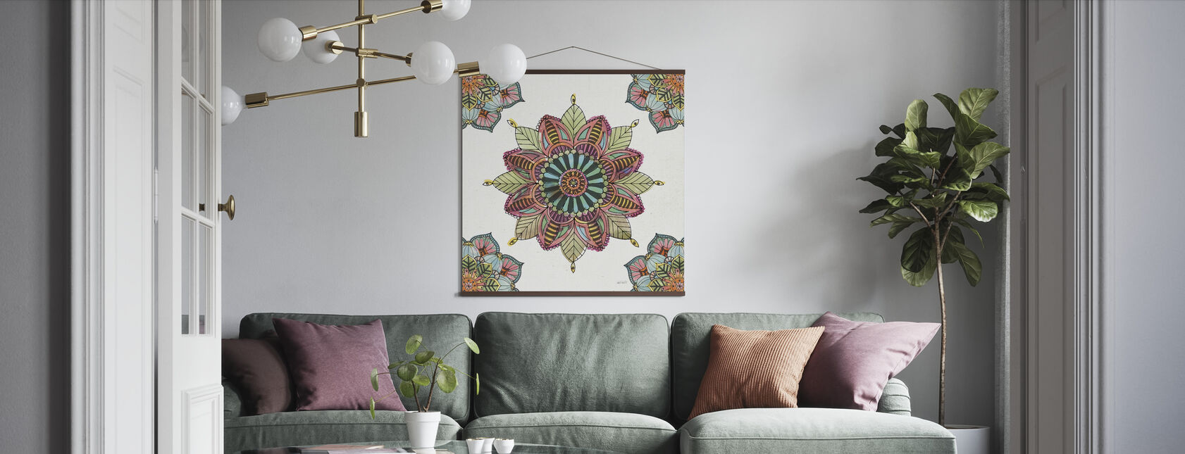 Mandala Morning II - Poster - Living Room