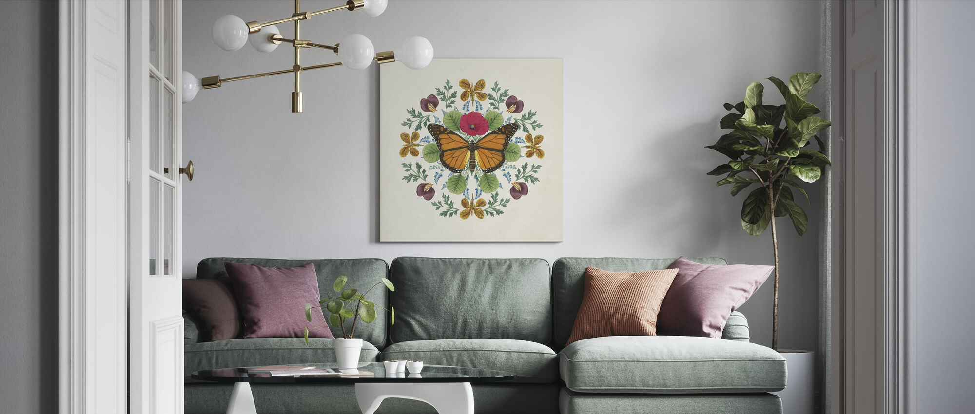 Butterfly Mandala - Canvas print - Living Room