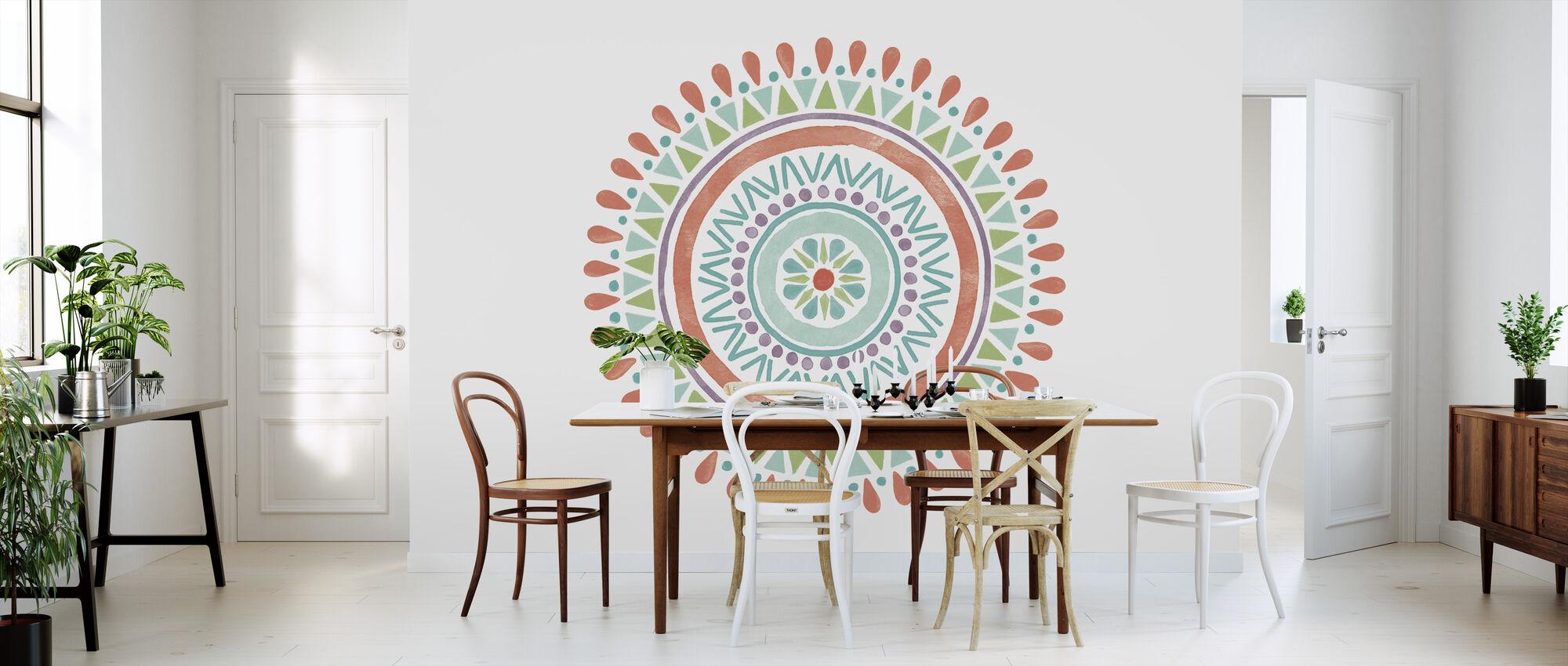 Lovely Llamas Mandala II - Wallpaper - Kitchen