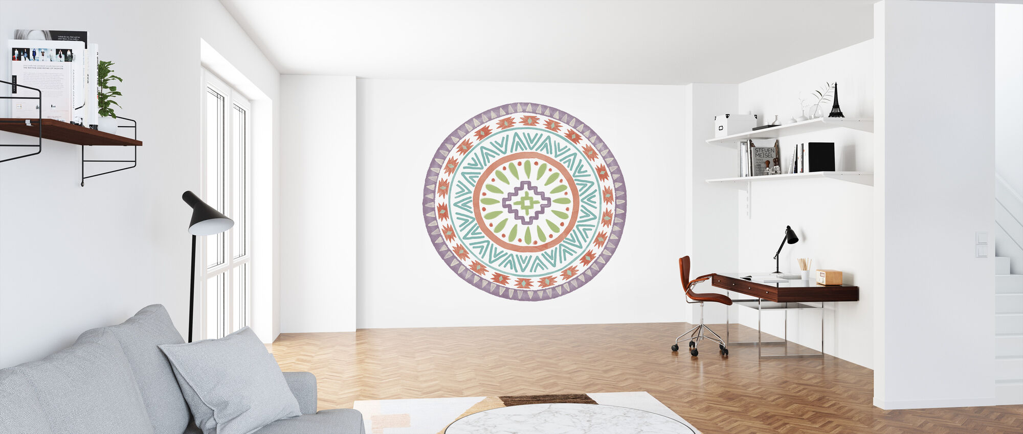 Lovely Llamas Mandala III - Wallpaper - Office