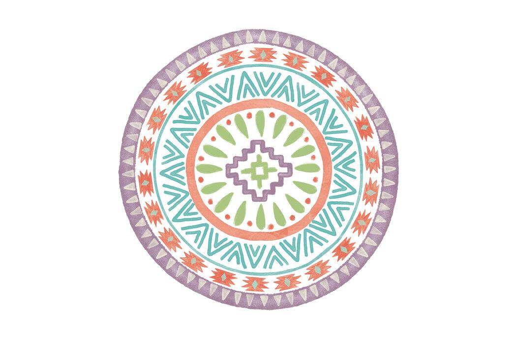 Lovely Llamas Mandala Iii Designer Canvas Print Photowall