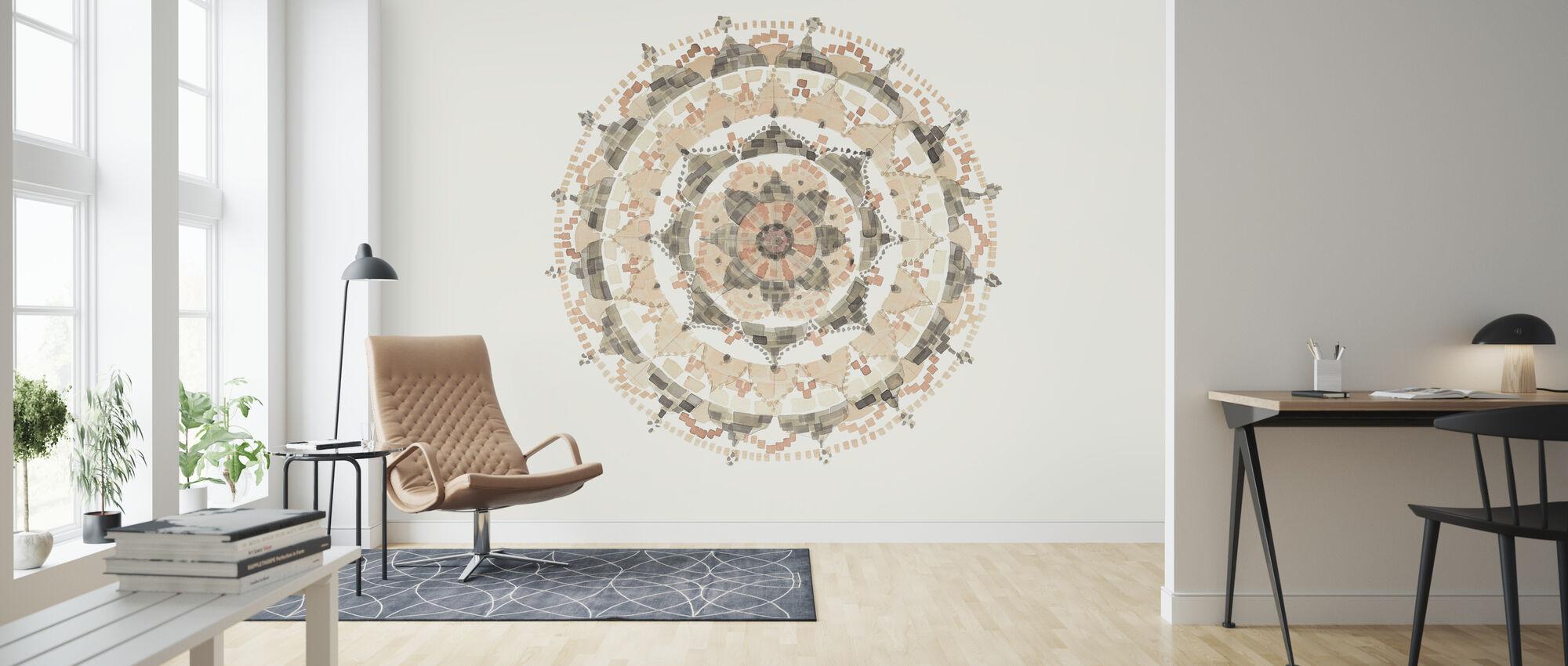 Blush Mandala - Wallpaper - Living Room