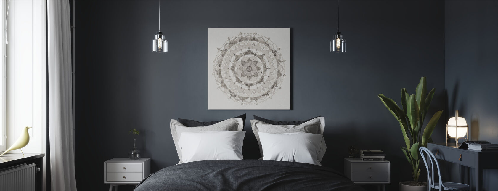 Neutral Mandala - Canvas print - Bedroom