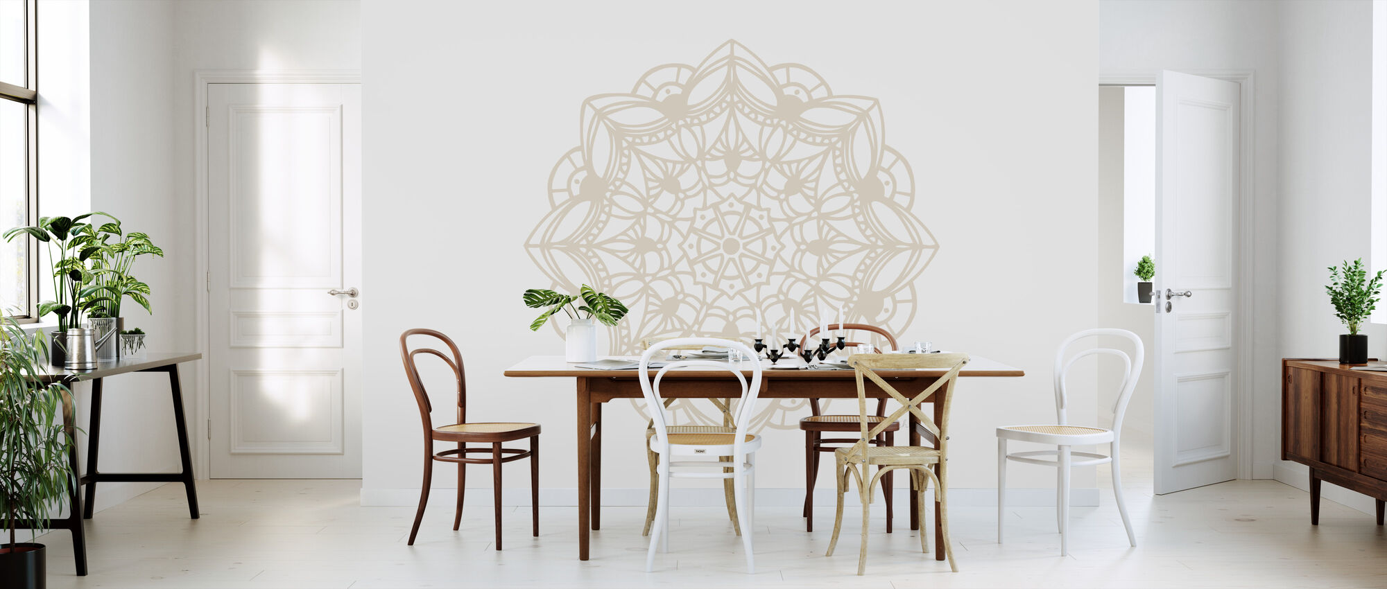 Contemporary Lace Neutral II - Wallpaper - Kitchen