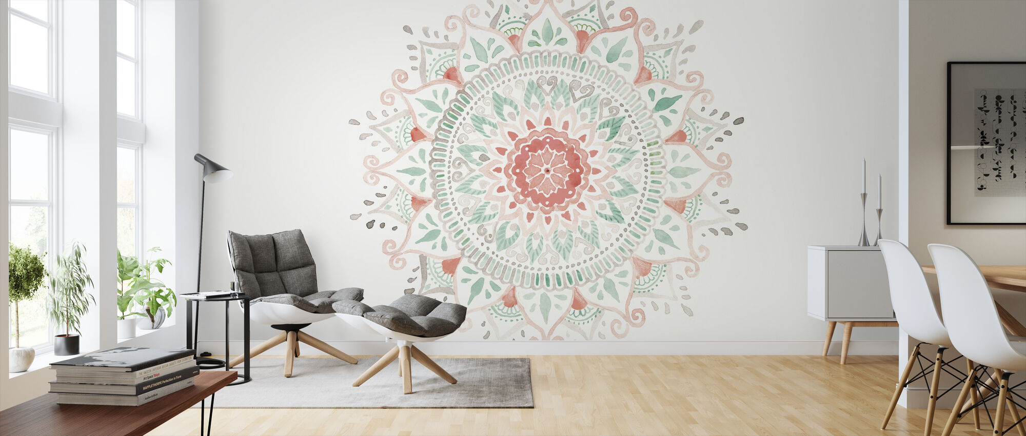 Mandala Delight I - Wallpaper - Living Room