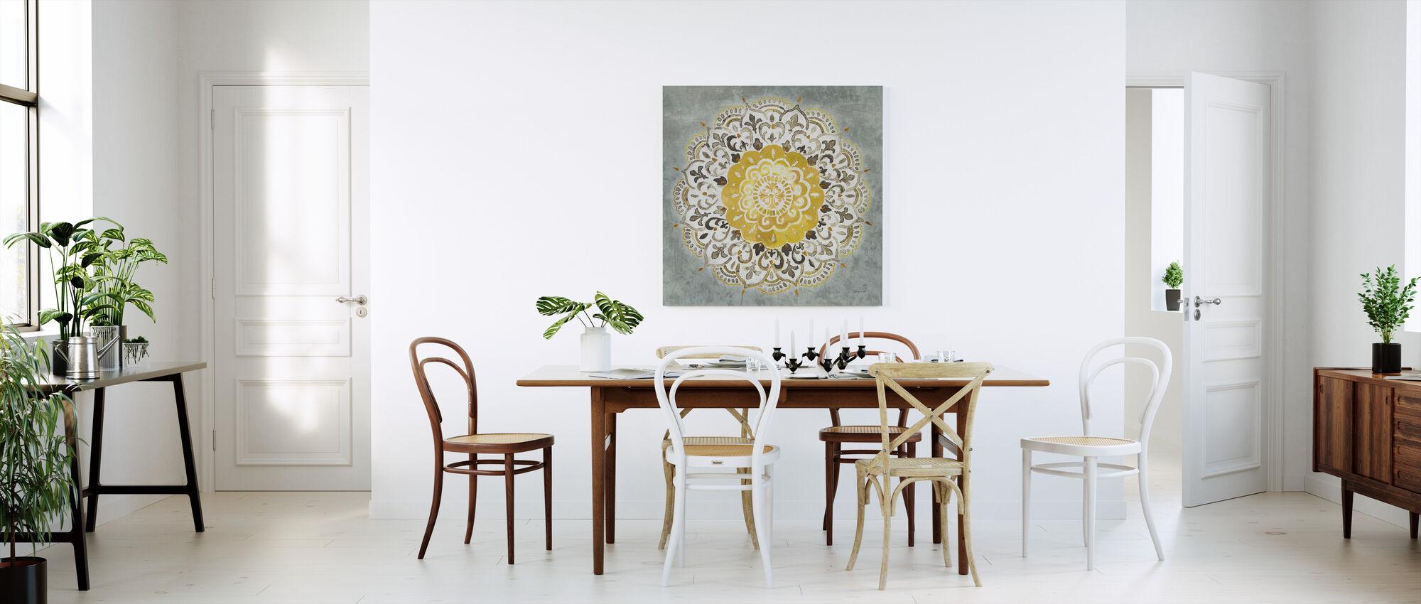 Mandala Delight - Yellow Grey - Canvas print - Kitchen
