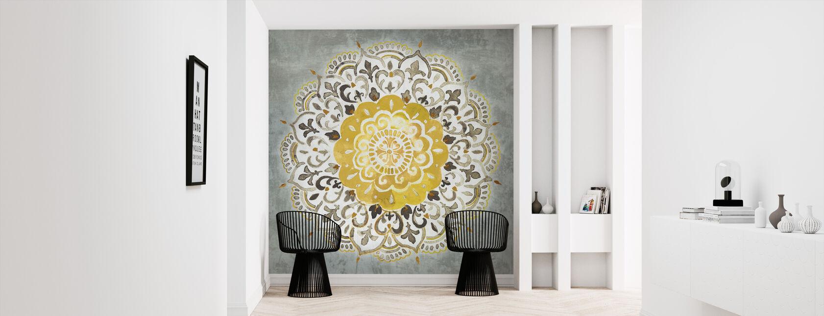 Mandala Delight - Yellow Grey - Wallpaper - Hallway