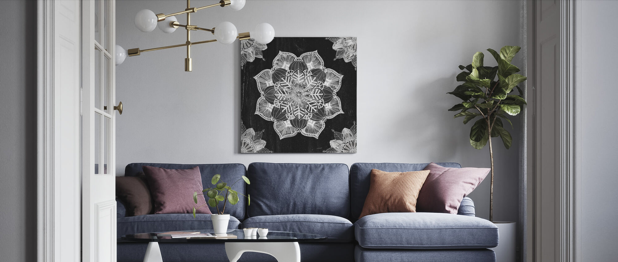 Mandala Morning - Canvas print - Living Room