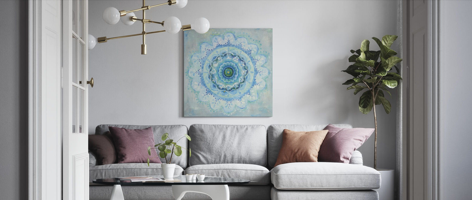 Coastal Mandala - Canvas print - Living Room