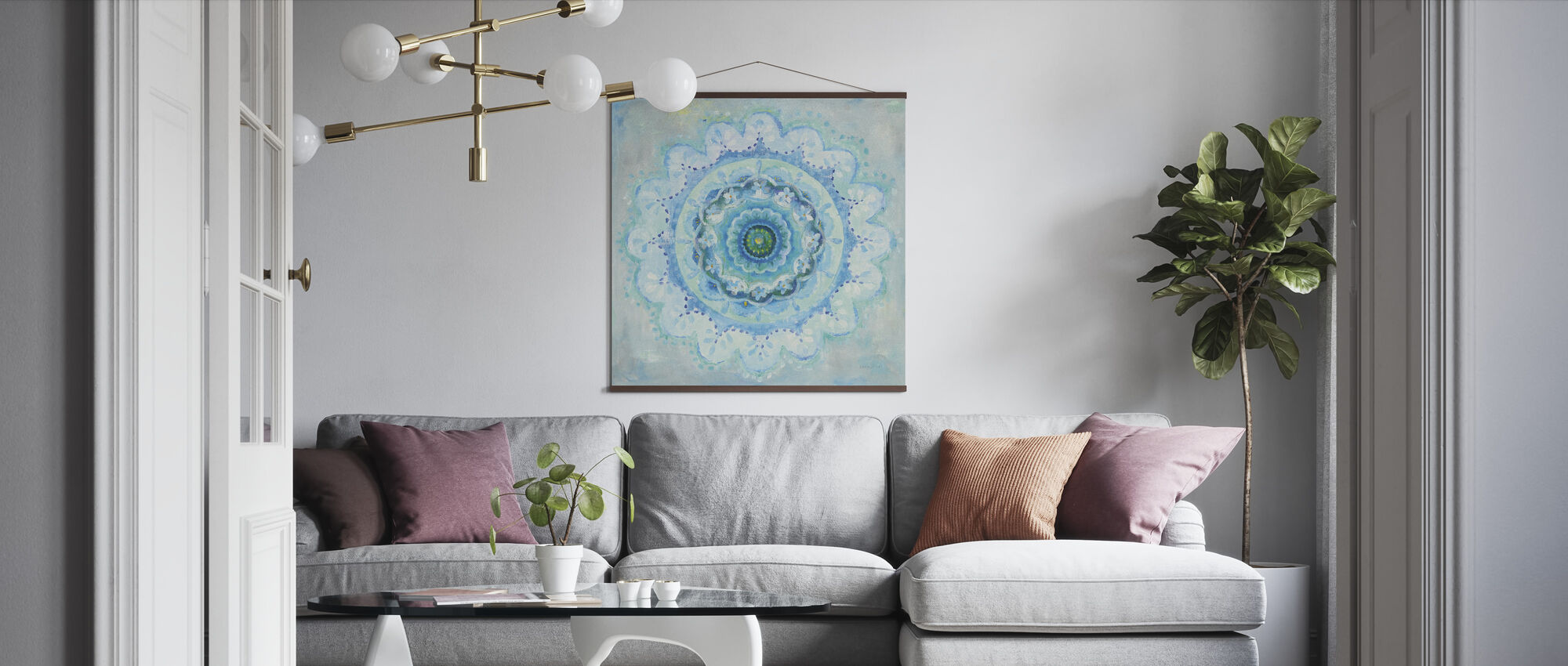 Coastal Mandala - Poster - Living Room