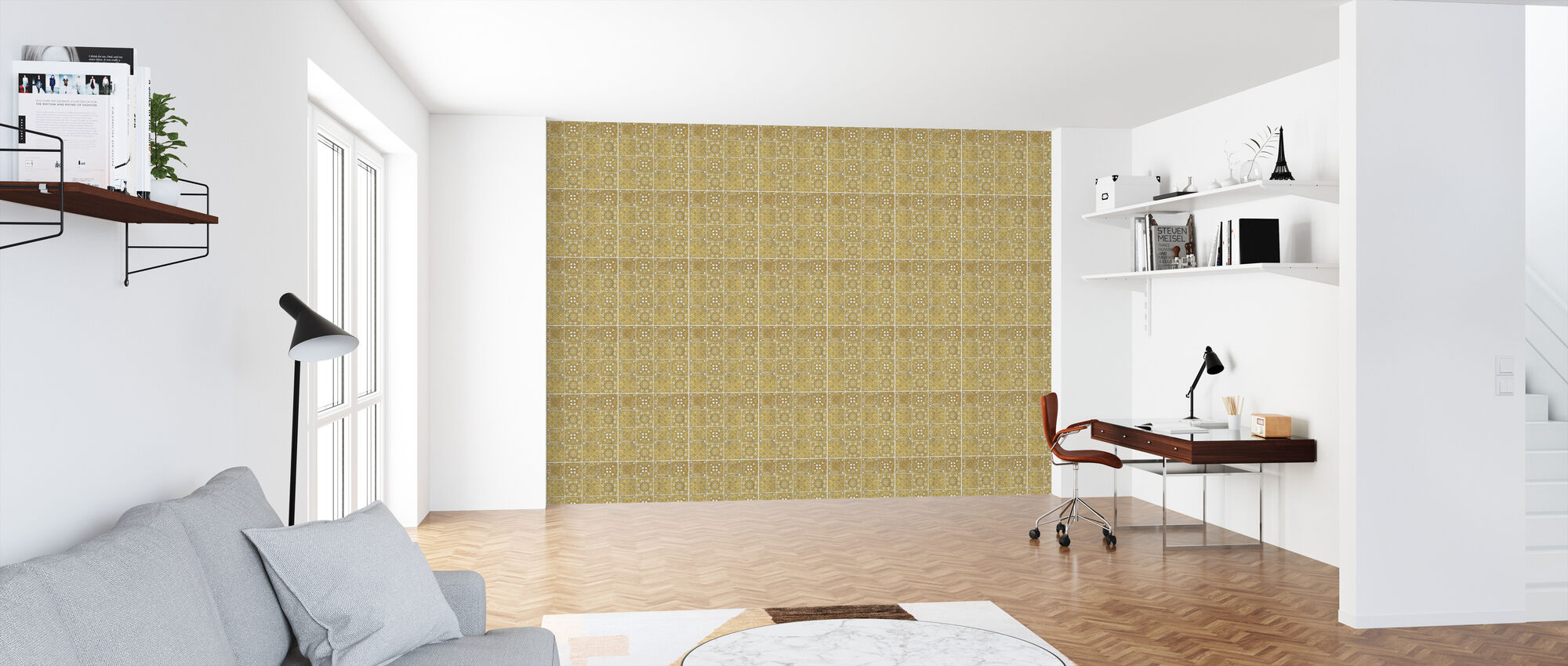 Color my World - Mexican Gold Mandala - Wallpaper - Office