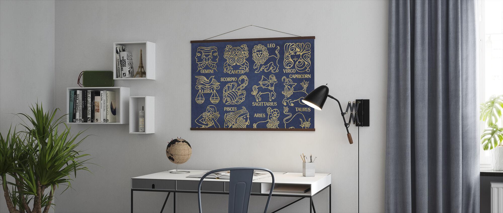 Hva er ditt tegn blått gull - Plakat - Kontor