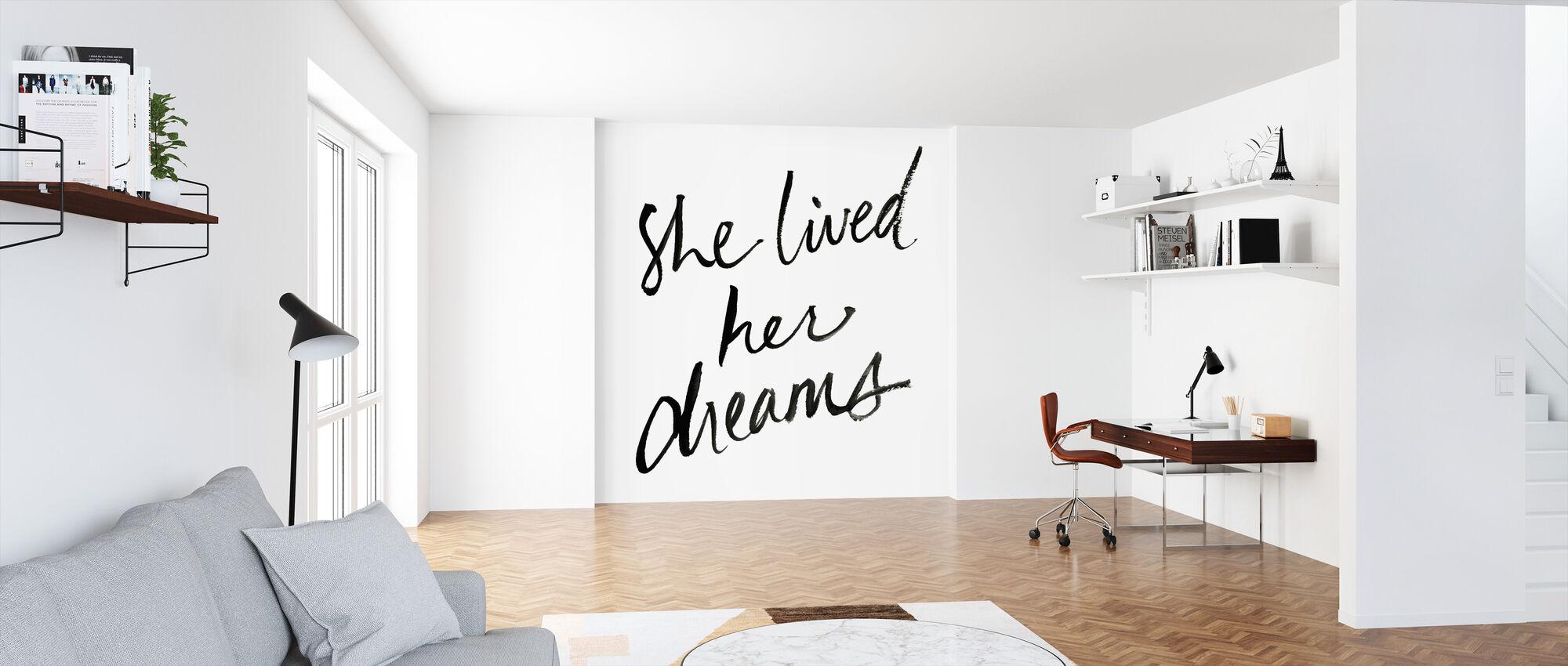 Ze leefde haar dromen - Behang - Kantoor