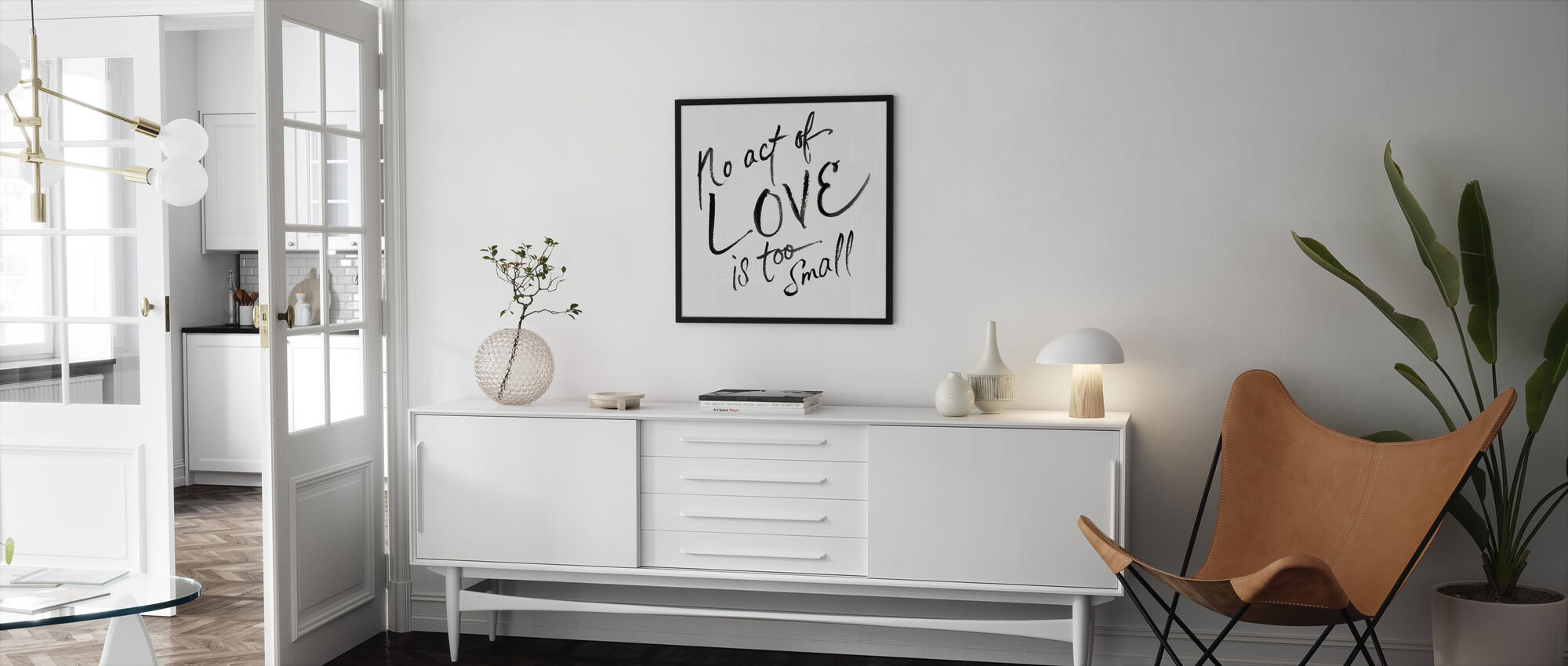 No Act Too Small - Framed print - Living Room