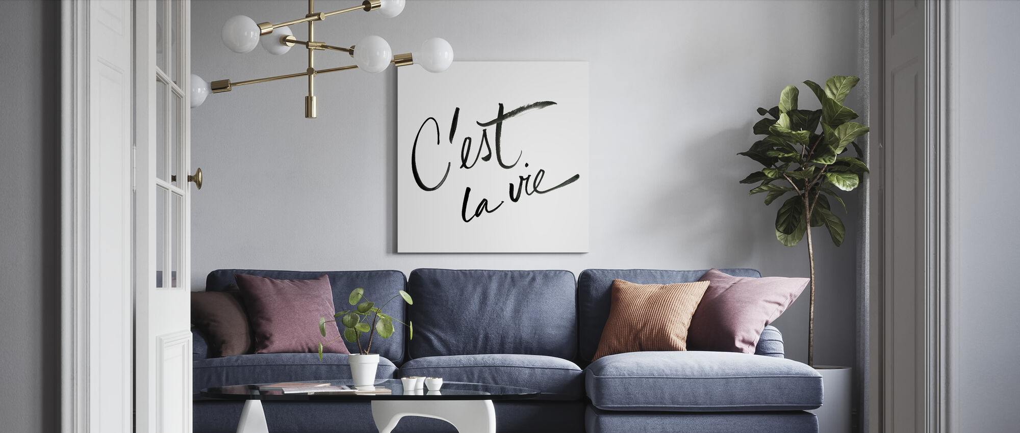 It's Life - Canvas print - Living Room