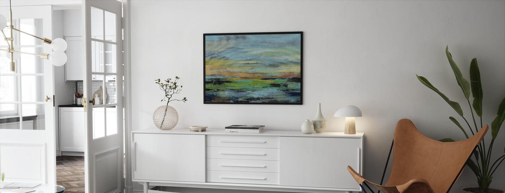 Delmar Solnedgang I - Indrammet billede - Stue