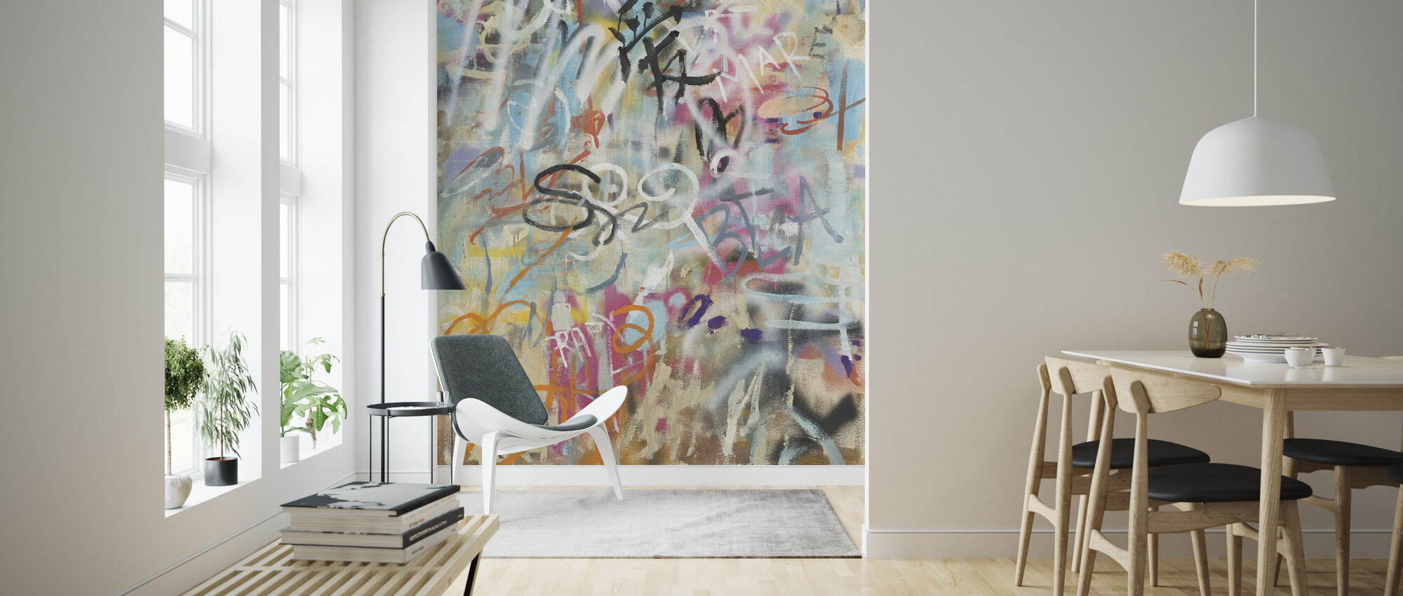 Graffiti Love - Wallpaper - Living Room
